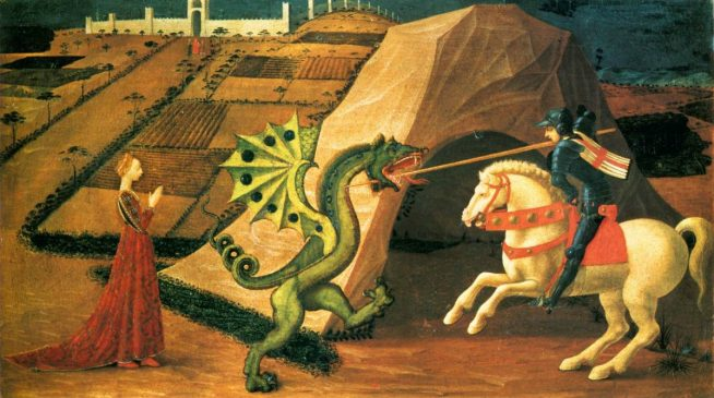 St George and the Dragon, Paolo Uccello, between 1458 and 1460