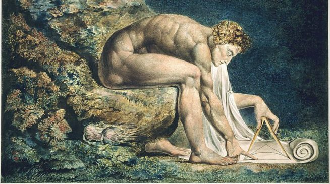 Newton by William Blake, 1795