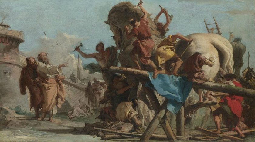 The Building of the Trojan Horse, Giovanni Tiepolo 1727-1804