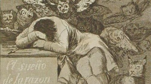 The Sleep of Reason Produces Monsters, Goya, 1799
