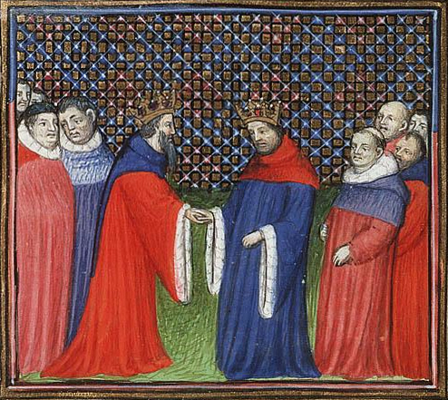 David Bruce King of Scotland acknowledges Edward III as his feudal lord; Jean Froissart c 1410
