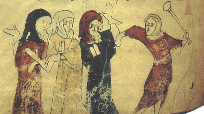 Jews being persecuted; Rochester Chronicle, 13th century