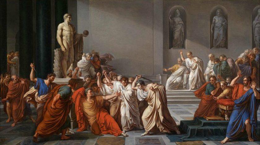 Vincenzo Camuccini: La Morte di Cesare, 1804-1805