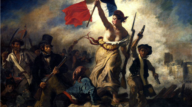 Liberty Leading the People;Eugene Delacroix, 1830
