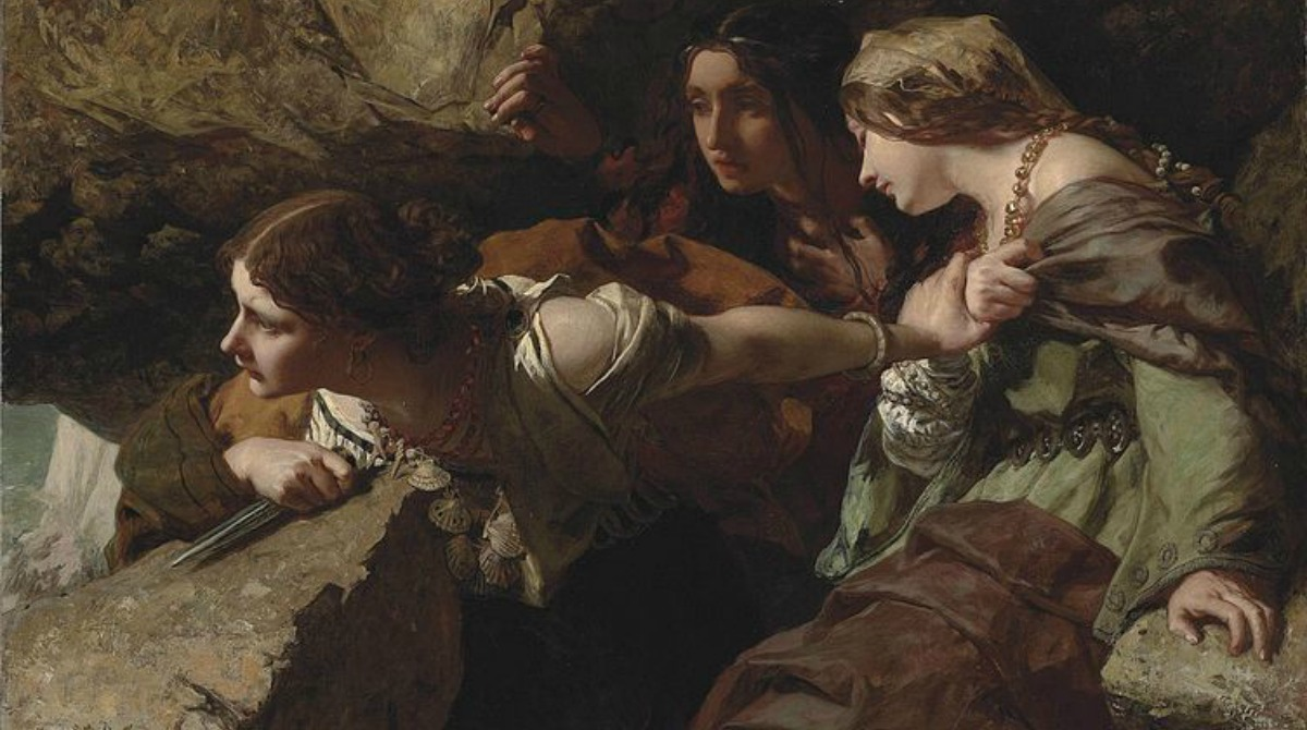 Courage, Anxiety and Despair: Watching the Battle; James Sant, 1850-1916