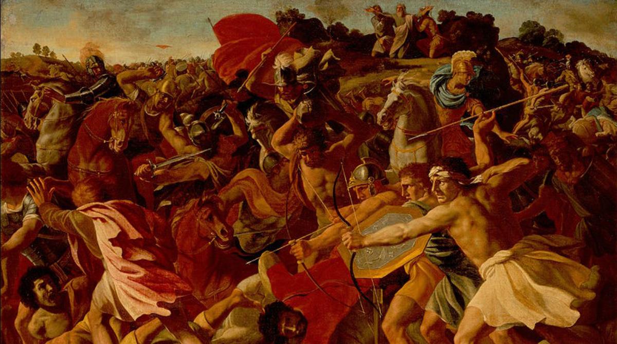 The Victory of Joshua over the Amalekites; Nicolas Poussin, 1624/1625