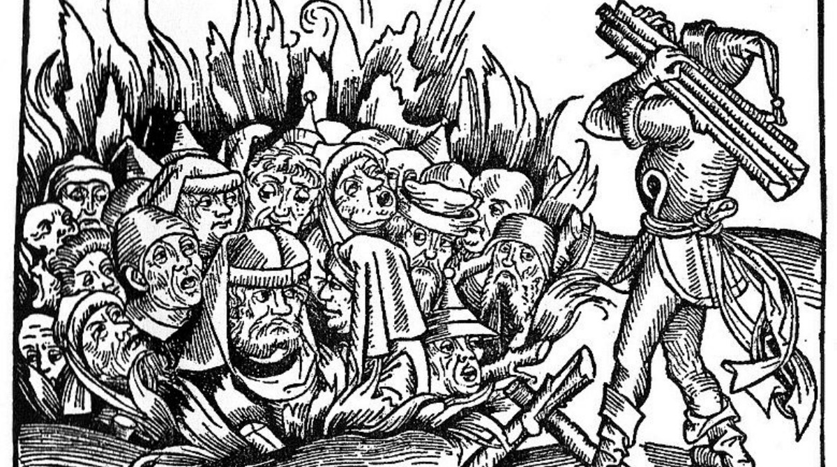 Massacre of Jews; woodcut, 1493