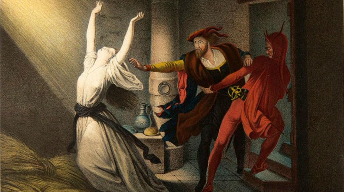Faust und Mephisto im Kerker; Joseph Fay, 1848