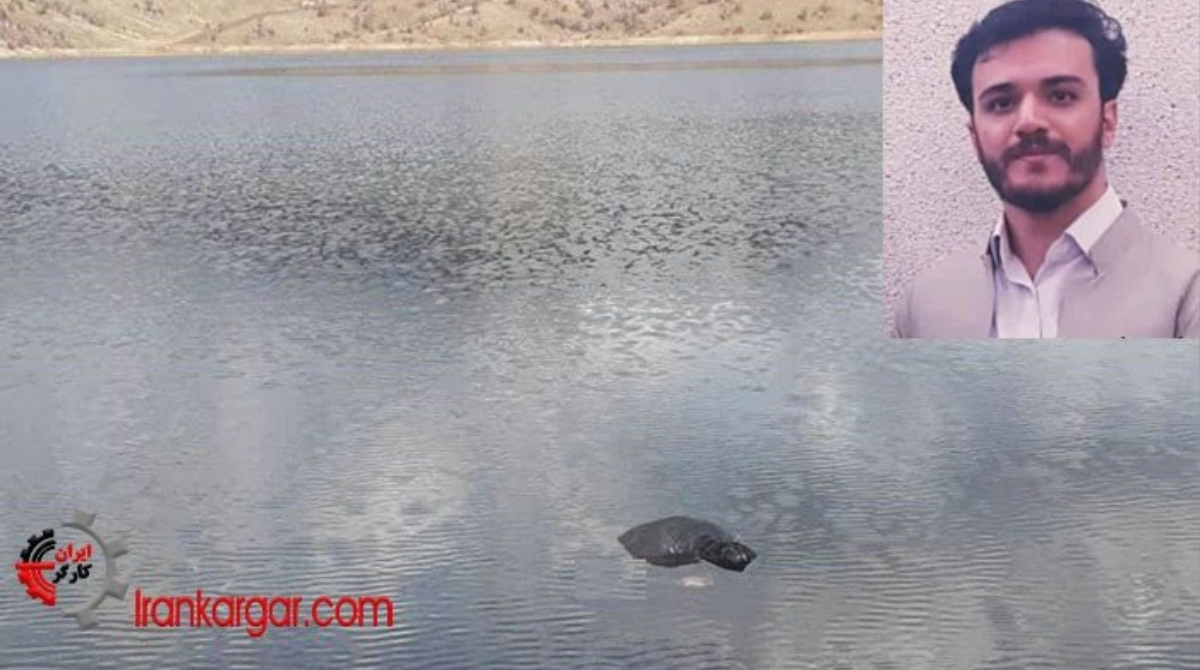 Corpse of 28year-old protester Ershad Rahmani floating in waters of Gawran Dam, Iran